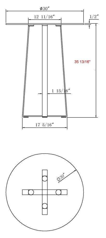 Attractive High Bar Table Size 29 92 X 35 83. Chambers Cnt Ld Jpg. Standard Bar Table  Dimensions ...